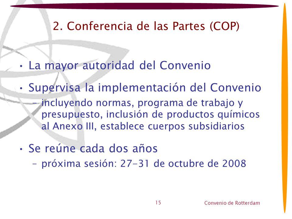 2. Conferencia de las Partes (COP)
