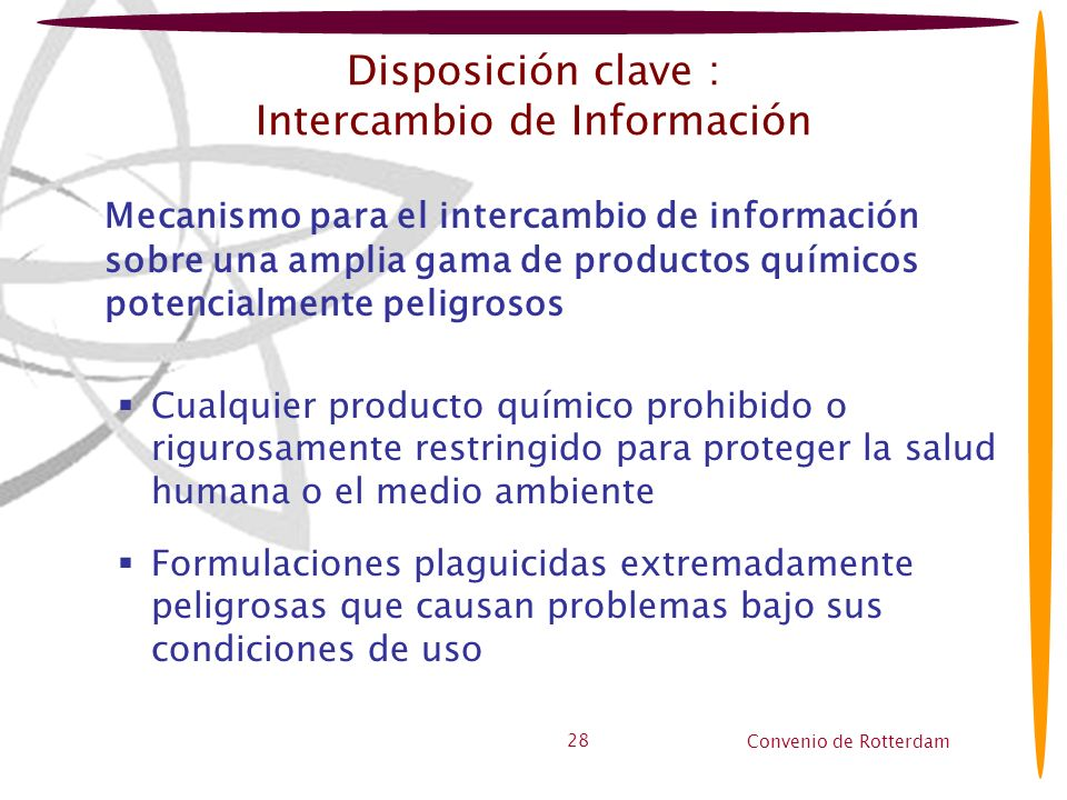 Disposición clave : Intercambio de Información