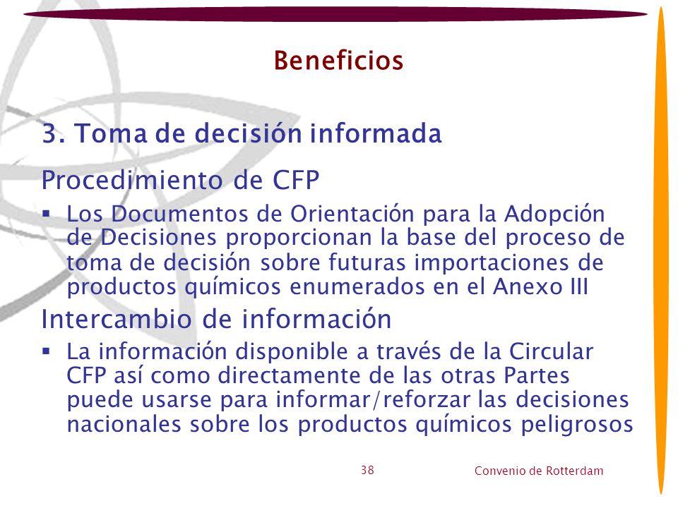 3. Toma de decisión informada Procedimiento de CFP