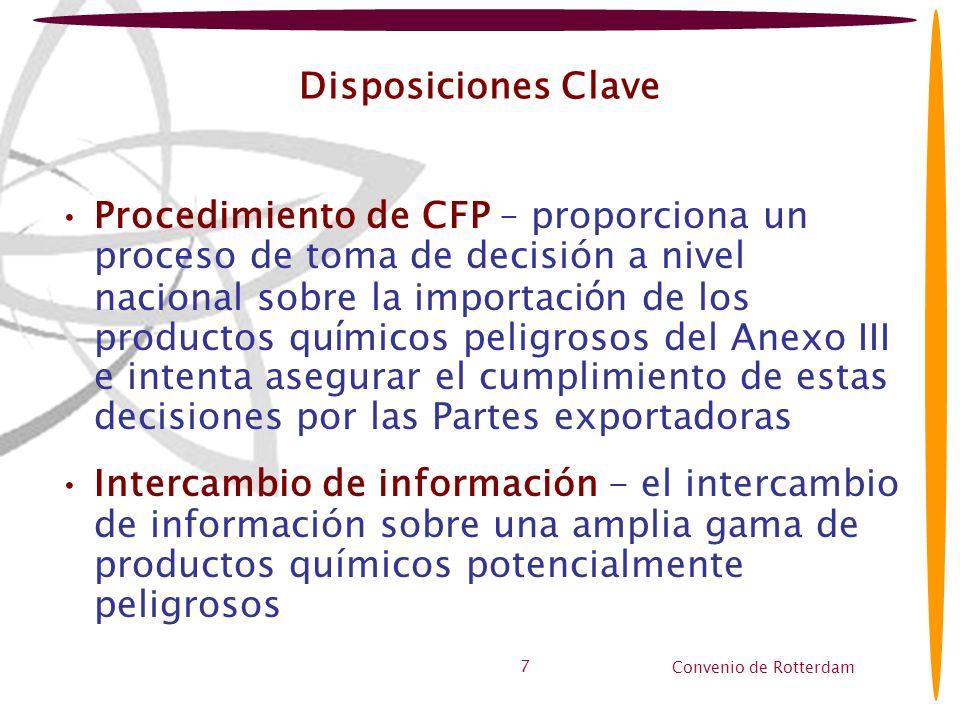 Disposiciones Clave