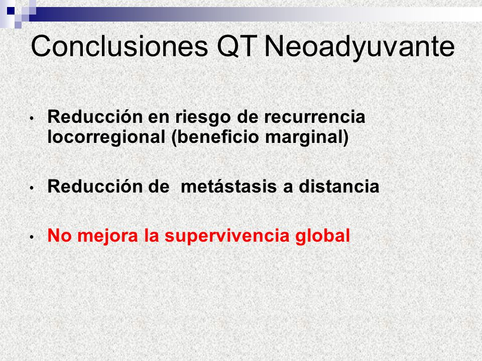 Conclusiones QT Neoadyuvante