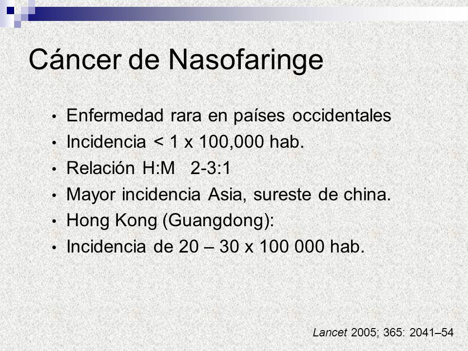 Cáncer de Nasofaringe Enfermedad rara en países occidentales