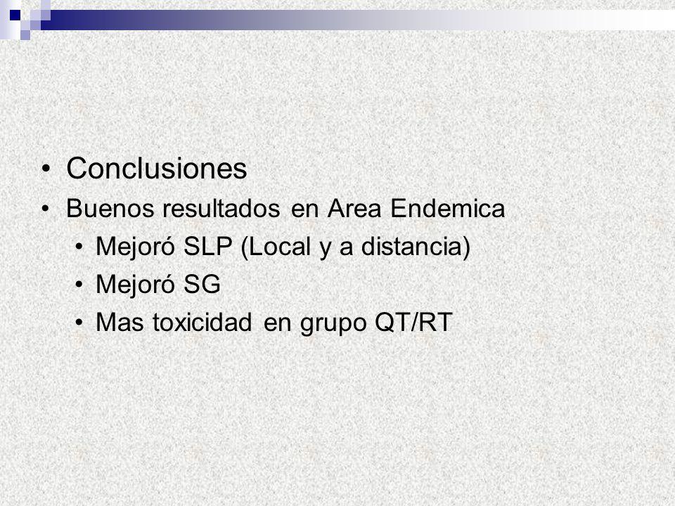 Conclusiones Buenos resultados en Area Endemica