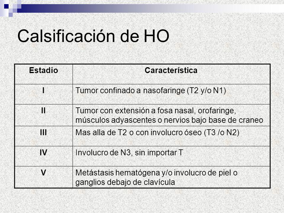 Calsificación de HO Estadio Característica I
