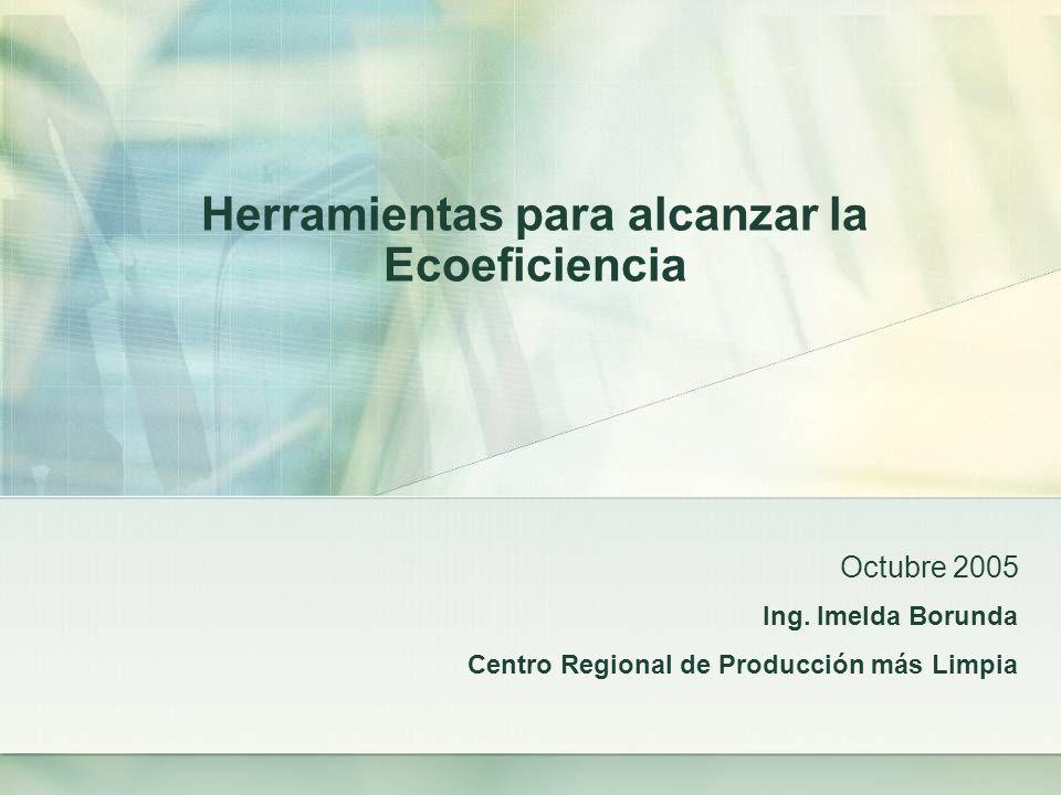 Herramientas para alcanzar la Ecoeficiencia