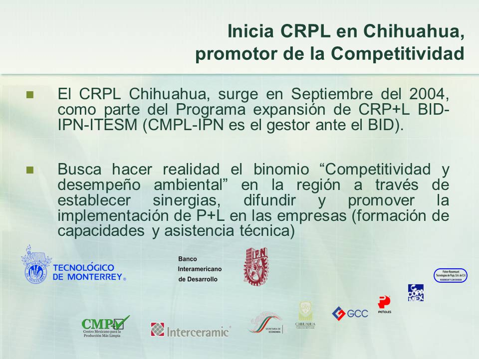 Inicia CRPL en Chihuahua, promotor de la Competitividad