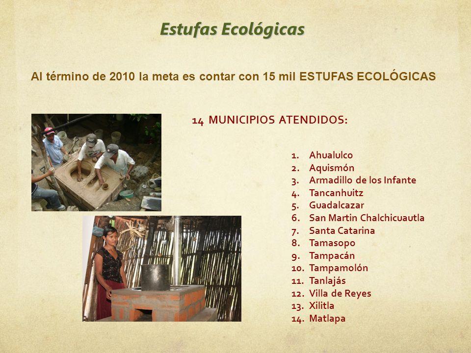 Al término de 2010 la meta es contar con 15 mil ESTUFAS ECOLÓGICAS