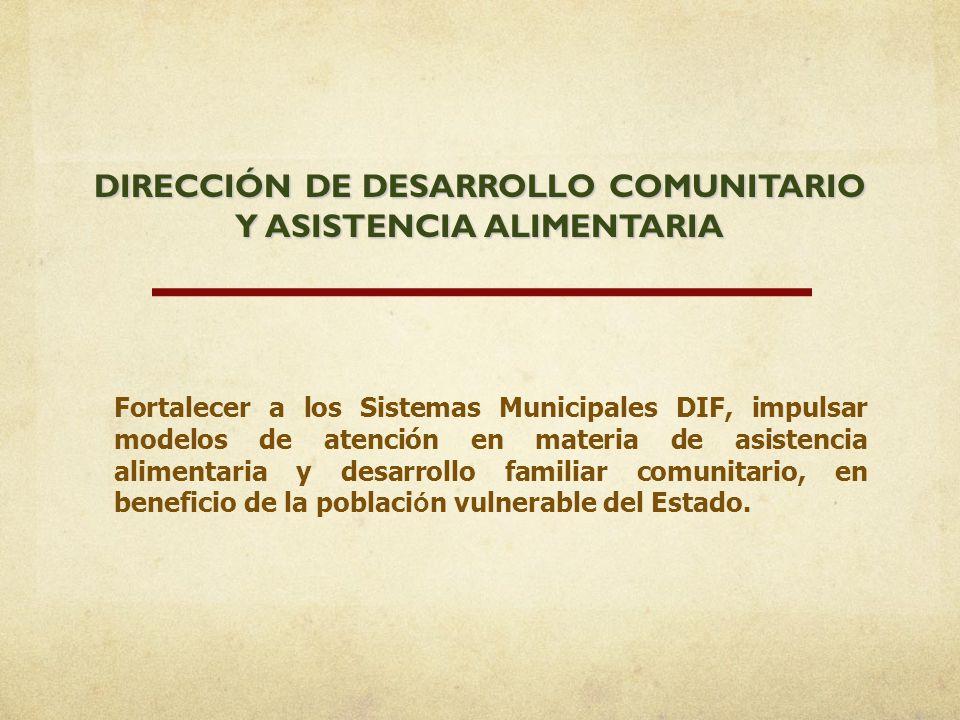 DIRECCIÓN DE DESARROLLO COMUNITARIO Y ASISTENCIA ALIMENTARIA