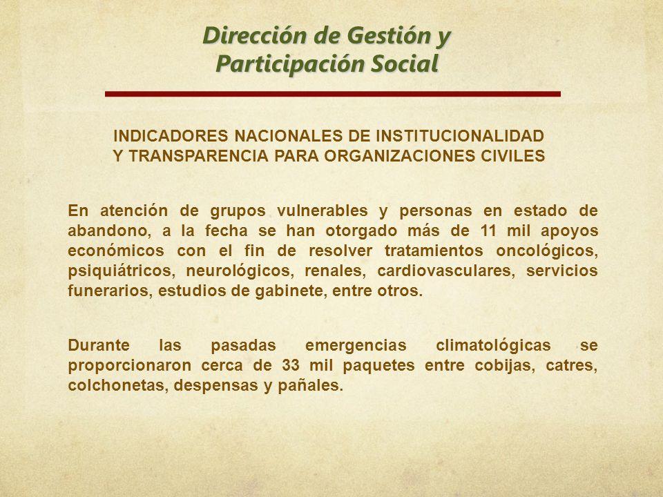Dirección de Gestión y Participación Social
