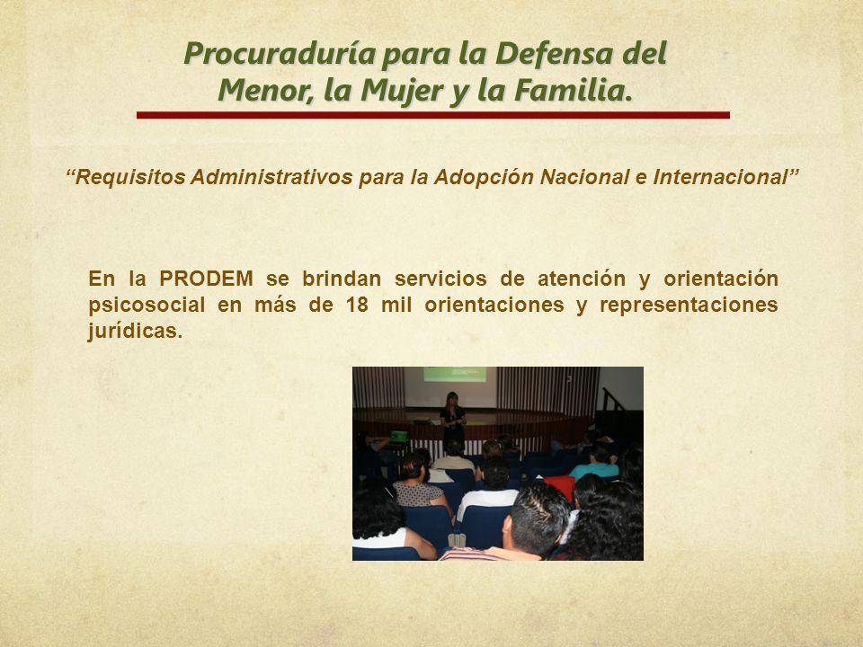 Procuraduría para la Defensa del Menor, la Mujer y la Familia.
