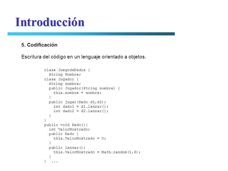 Introducción 5. Codificación