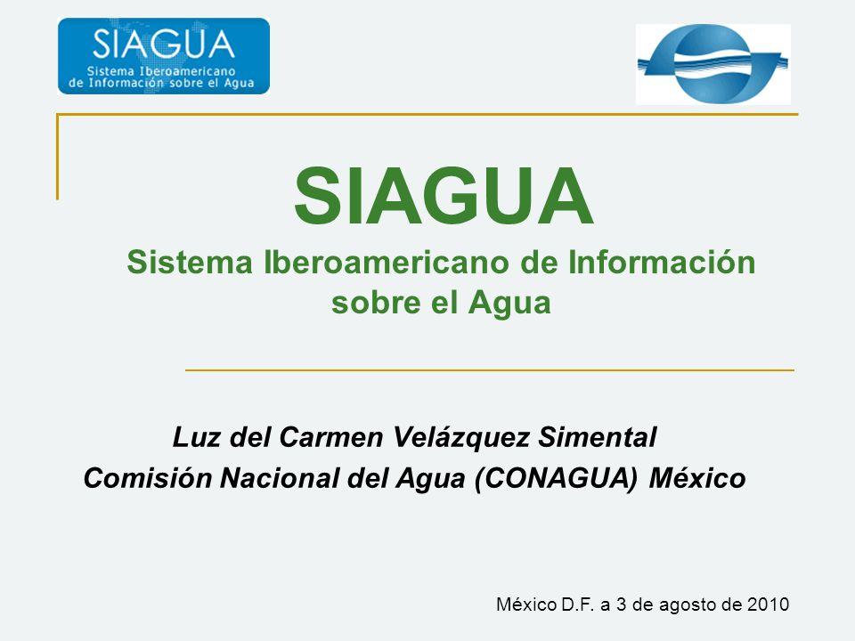 SIAGUA Sistema Iberoamericano de Información sobre el Agua
