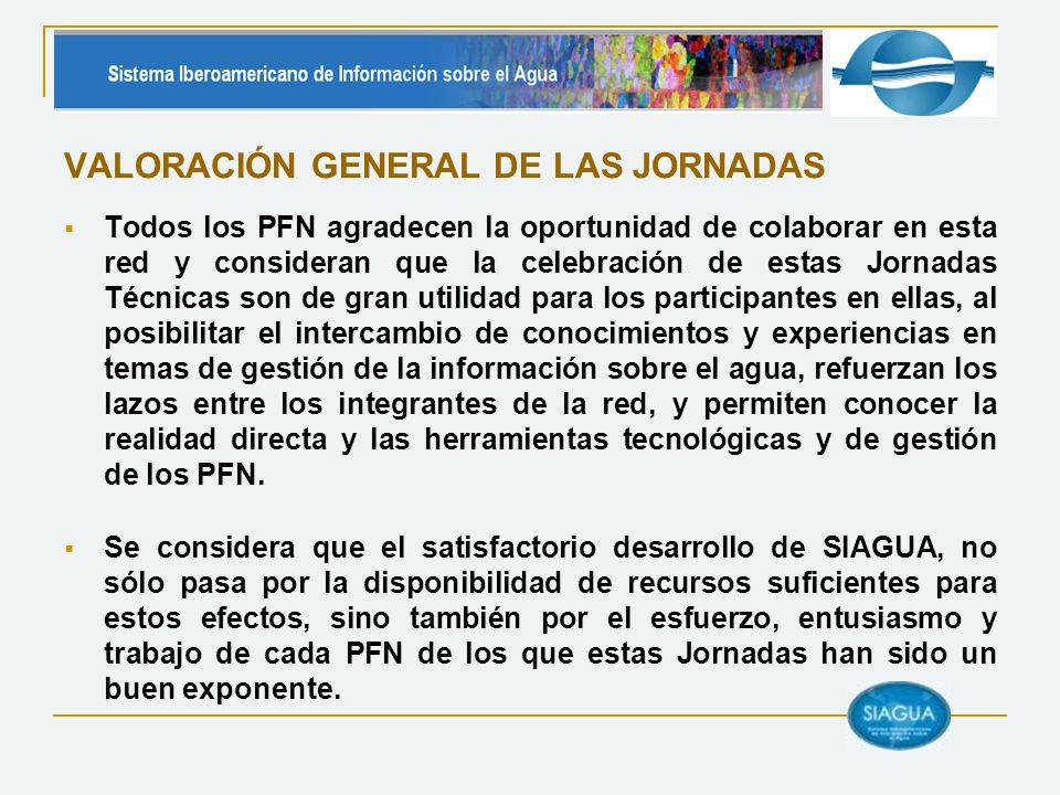 VALORACIÓN GENERAL DE LAS JORNADAS