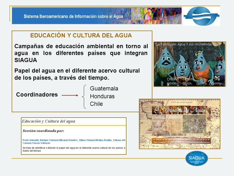 EDUCACIÓN Y CULTURA DEL AGUA