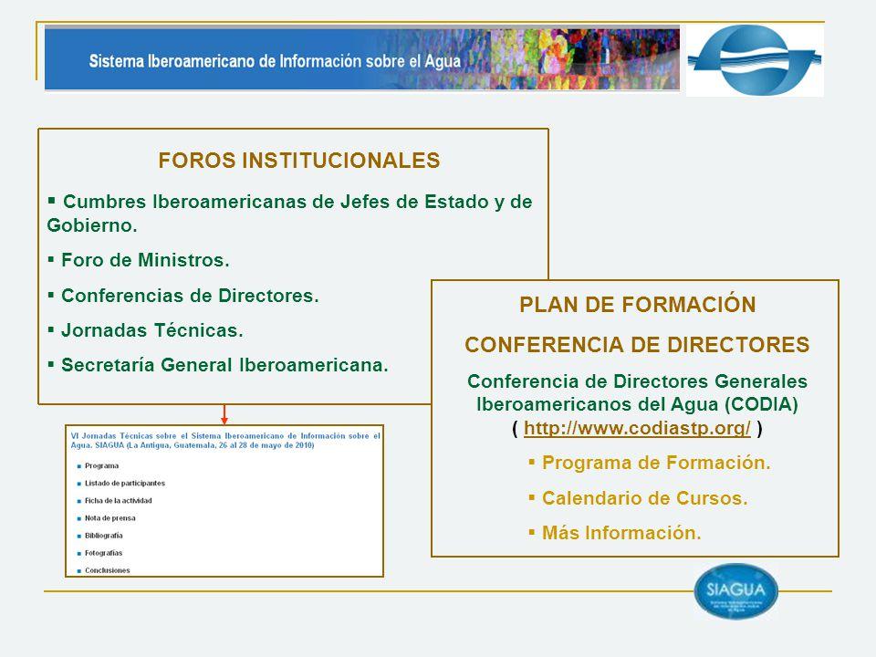 FOROS INSTITUCIONALES CONFERENCIA DE DIRECTORES