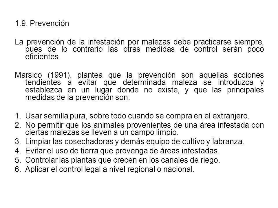 1.9. Prevención