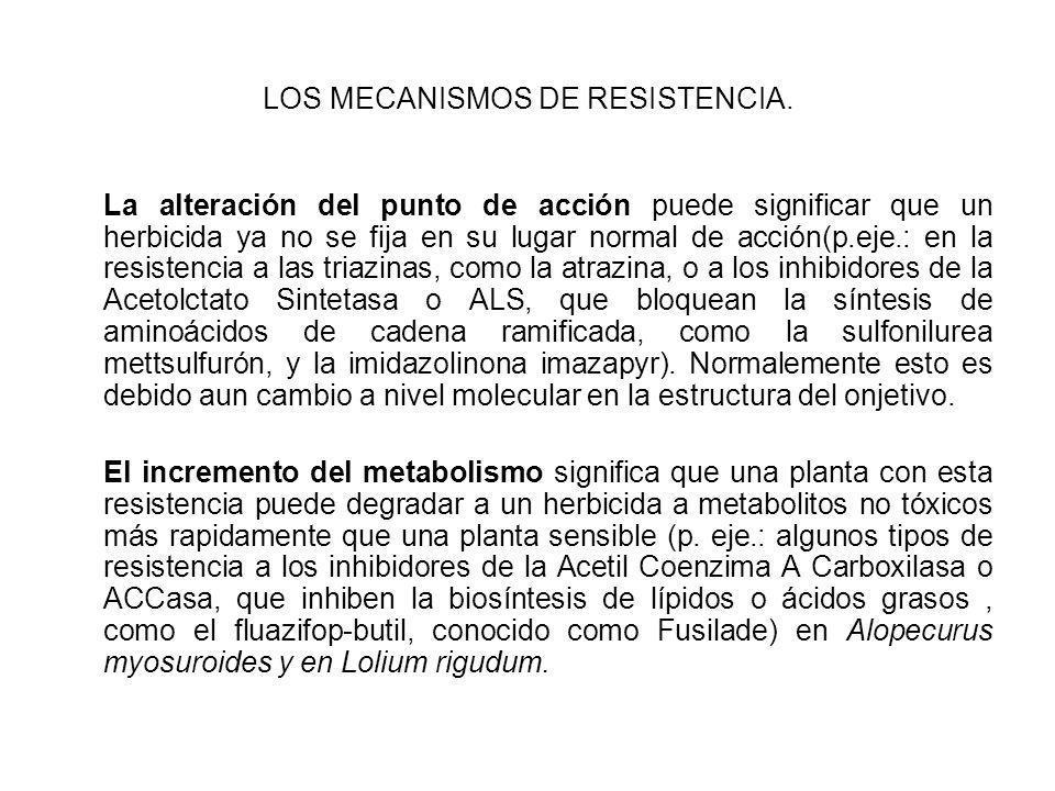 LOS MECANISMOS DE RESISTENCIA.