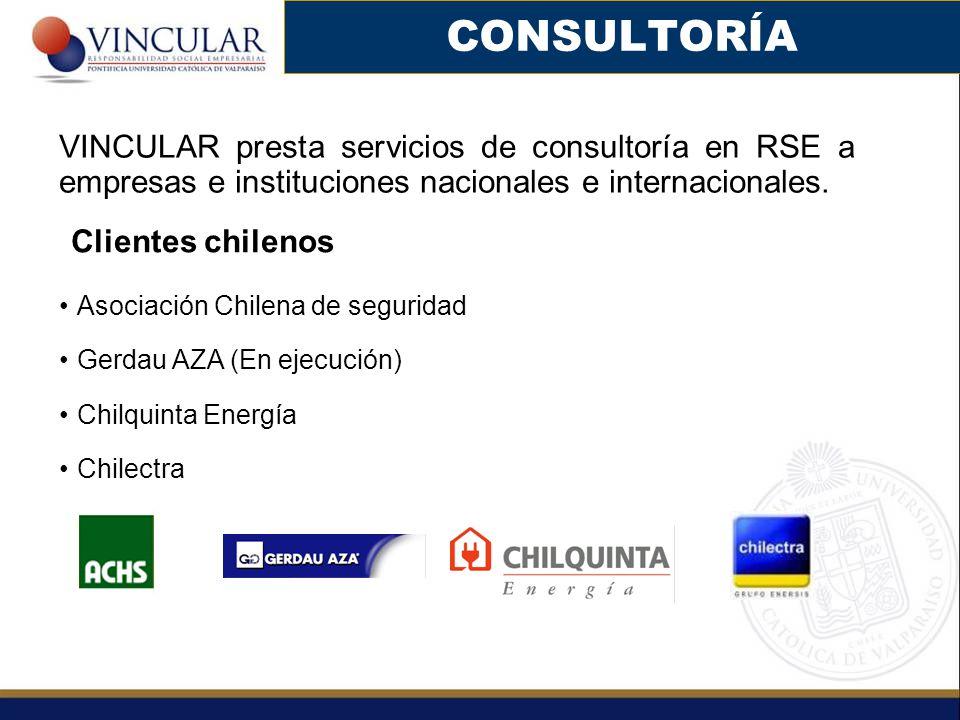CONSULTORÍA VINCULAR presta servicios de consultoría en RSE a empresas e instituciones nacionales e internacionales.