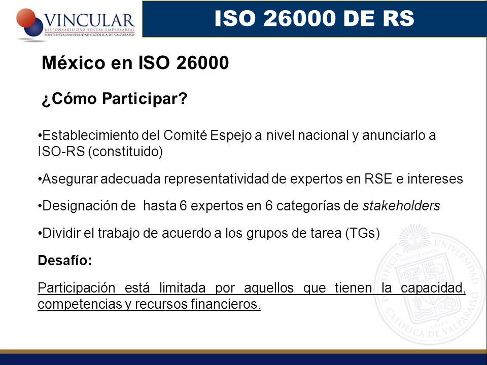 ISO 26000 DE RS México en ISO 26000 ¿Cómo Participar