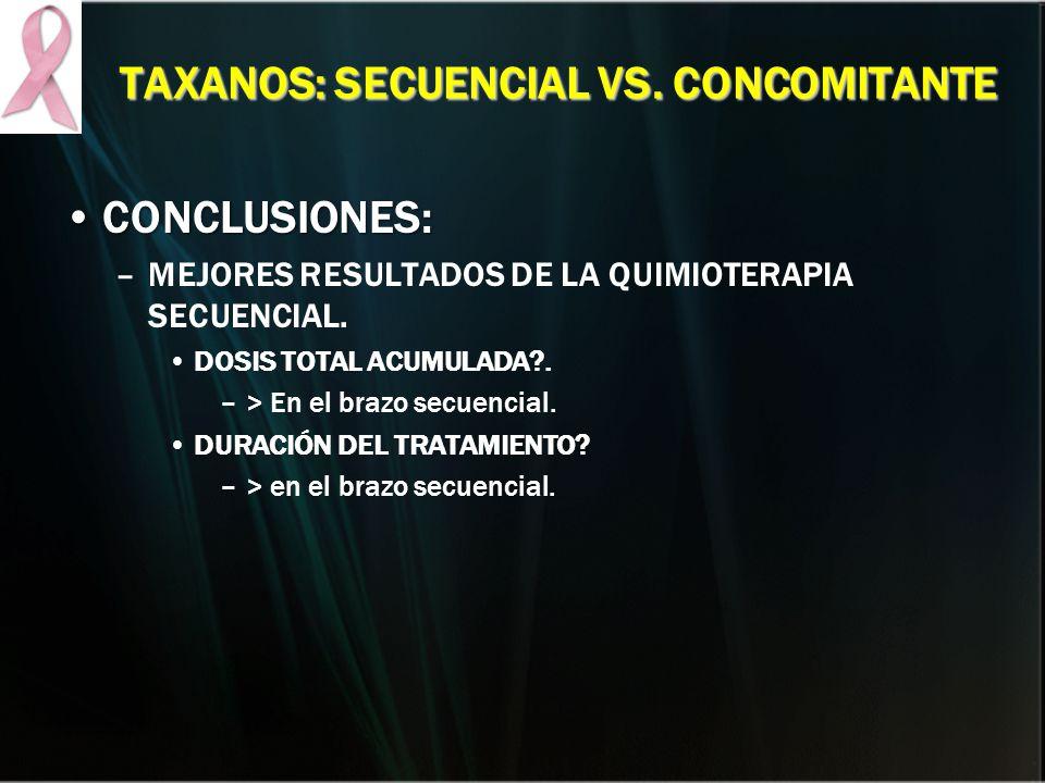 TAXANOS: SECUENCIAL VS. CONCOMITANTE