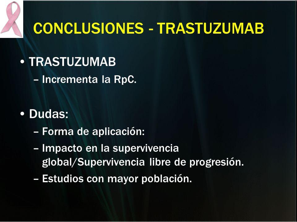 CONCLUSIONES - TRASTUZUMAB