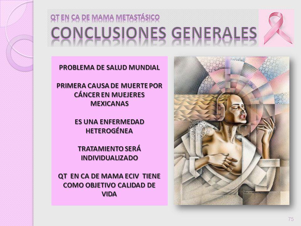 QT EN CA DE MAMA METASTÁSICO CONCLUSIONES GENERALES
