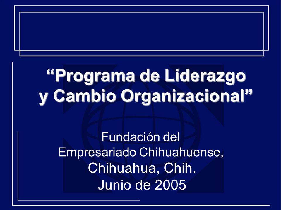 Programa de Liderazgo y Cambio Organizacional
