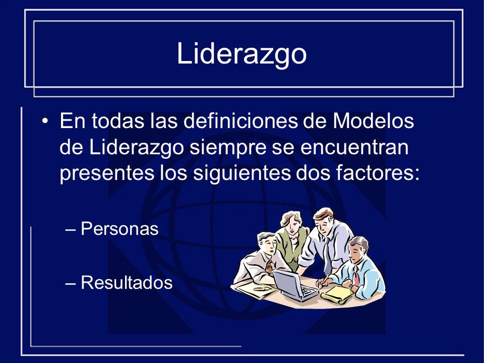 Liderazgo En todas las definiciones de Modelos de Liderazgo siempre se encuentran presentes los siguientes dos factores: