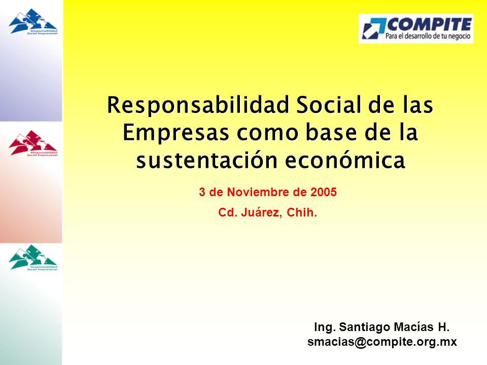 Responsabilidad Social de las Empresas como base de la sustentación económica
