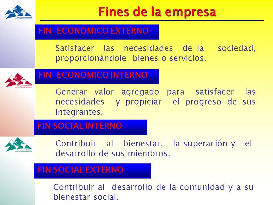 Fines de la empresa FIN ECONOMICO EXTERNO