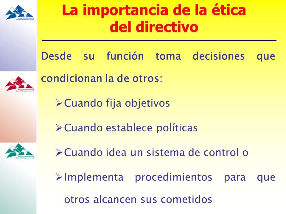 La importancia de la ética del directivo