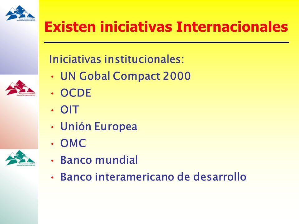 Existen iniciativas Internacionales