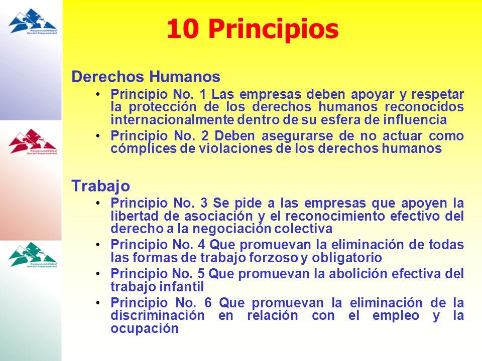 10 Principios Derechos Humanos Trabajo