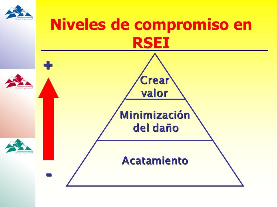 Niveles de compromiso en RSEI