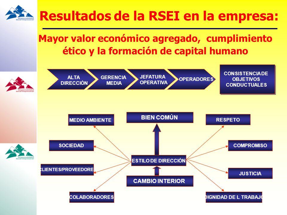 Resultados de la RSEI en la empresa: