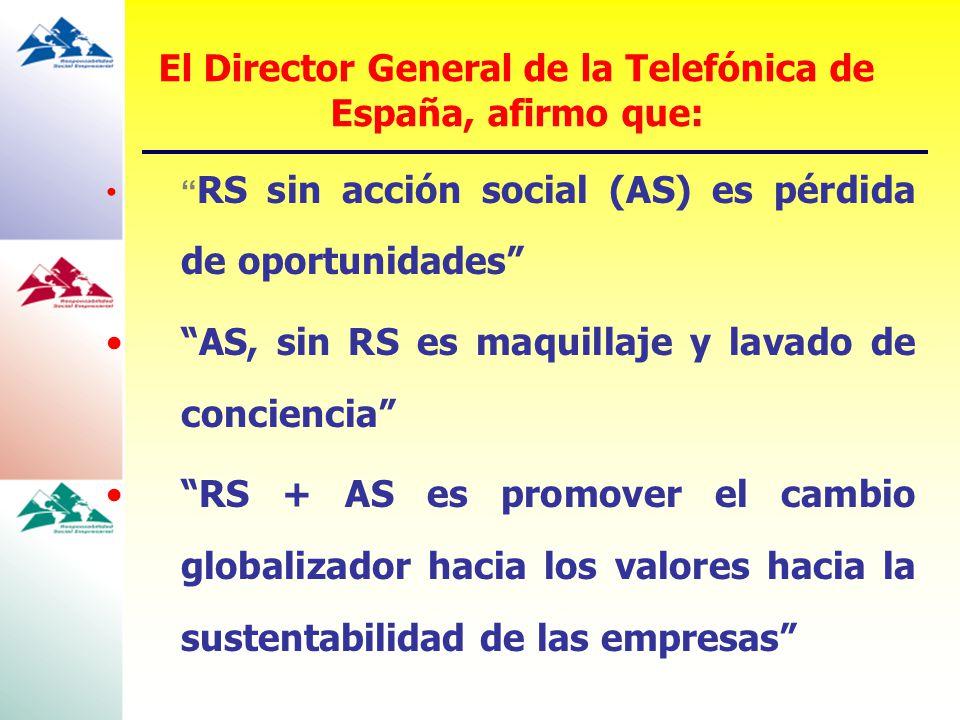 El Director General de la Telefónica de España, afirmo que: