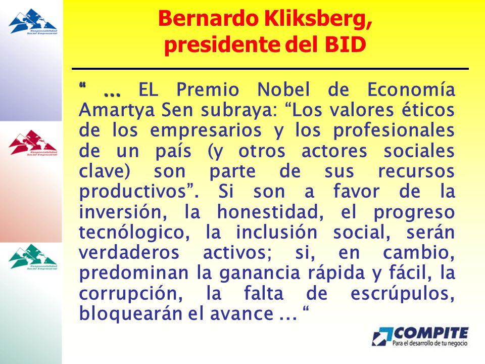 Bernardo Kliksberg, presidente del BID