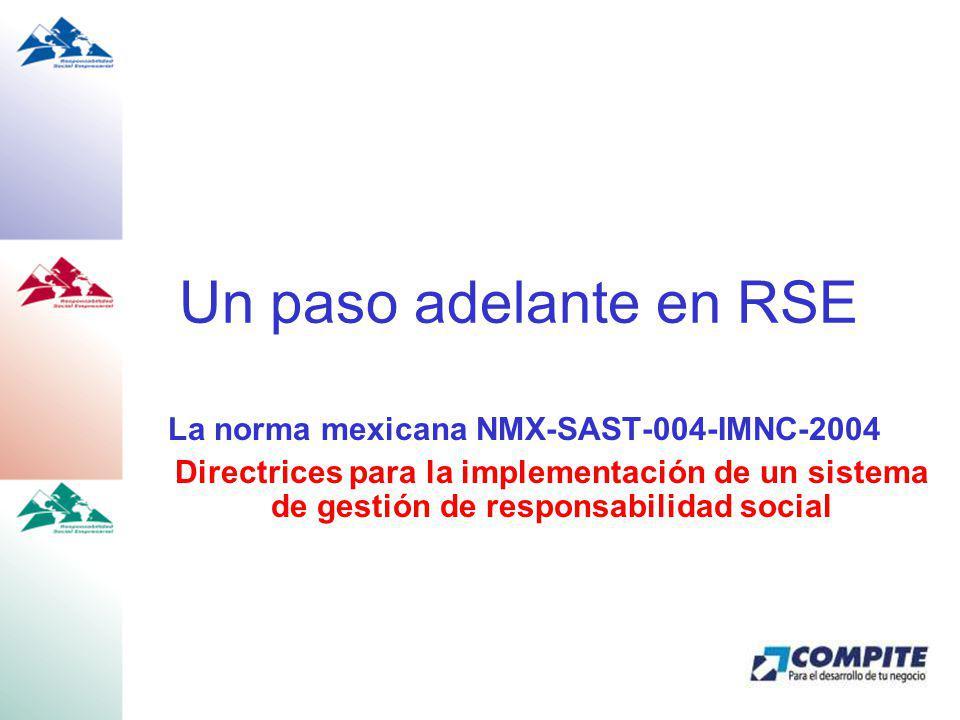 La norma mexicana NMX-SAST-004-IMNC-2004