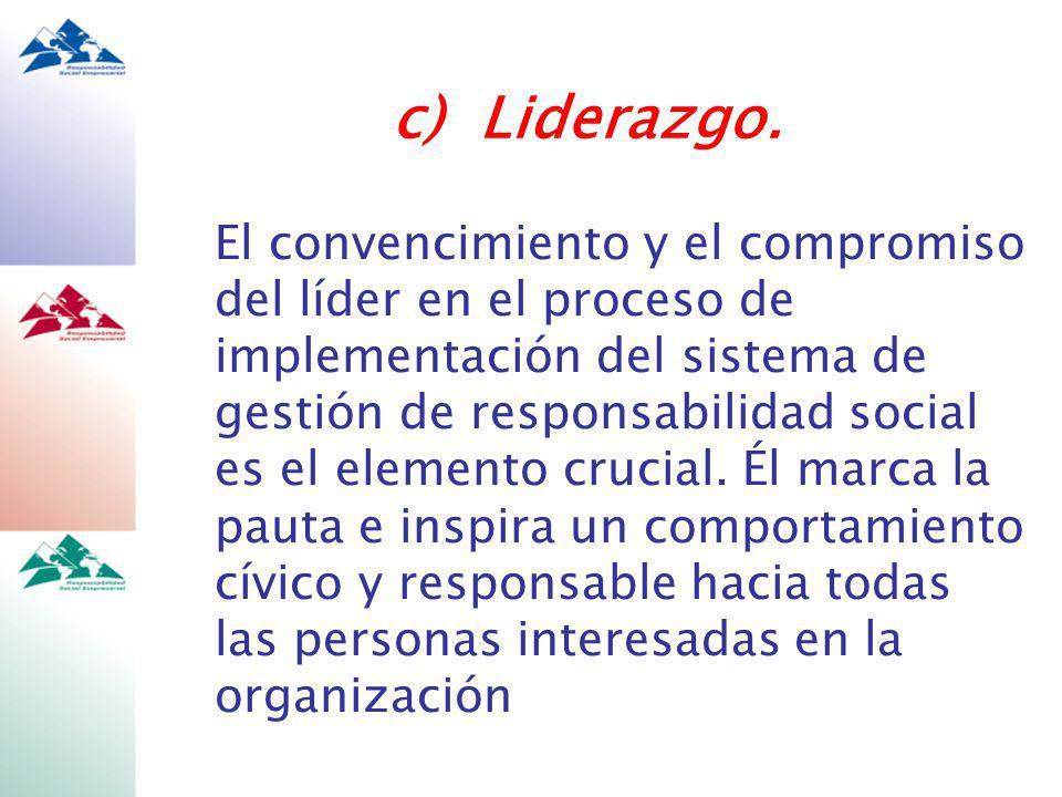 c) Liderazgo.