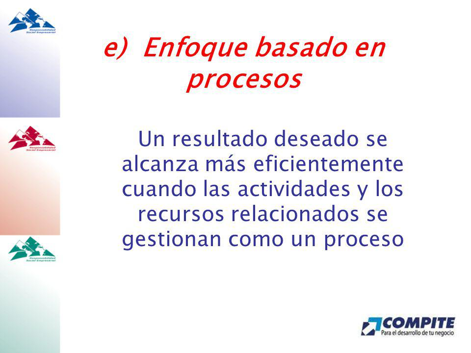 e) Enfoque basado en procesos