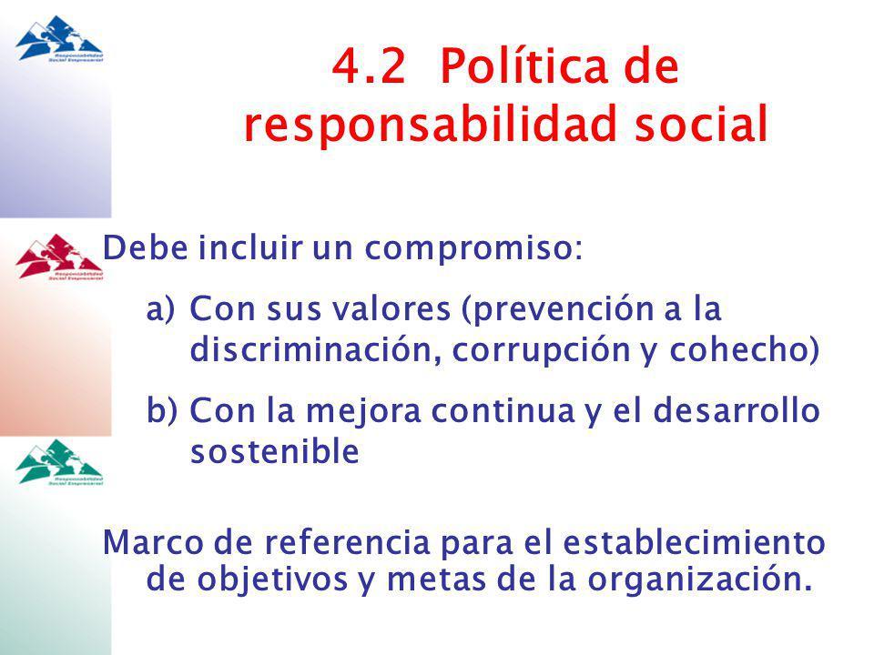 4.2 Política de responsabilidad social