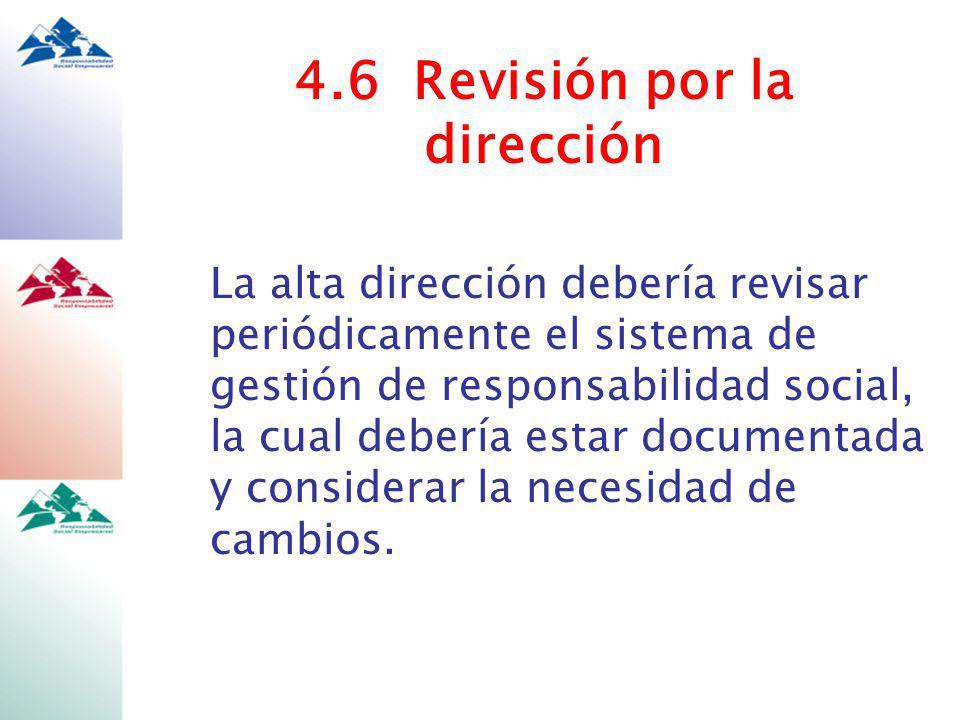 4.6 Revisión por la dirección