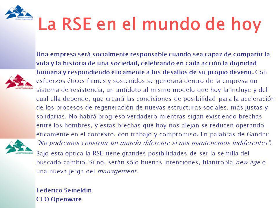 La RSE en el mundo de hoy