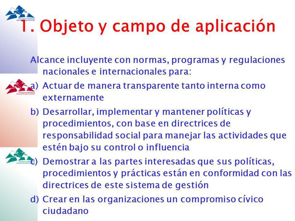 1. Objeto y campo de aplicación