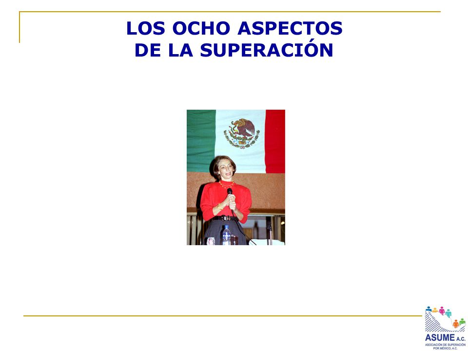 LOS OCHO ASPECTOS DE LA SUPERACIÓN
