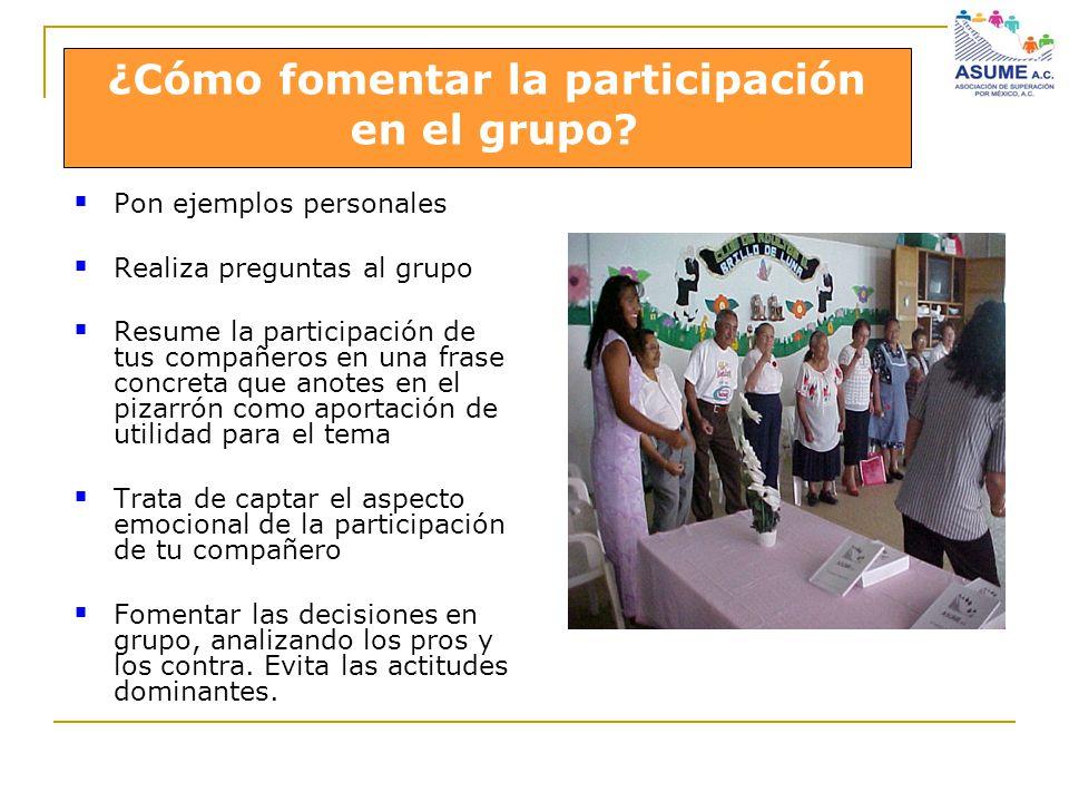 ¿Cómo fomentar la participación en el grupo