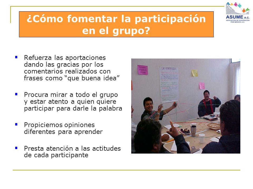 ¿Cómo fomentar la participación en el grupo en el grupo