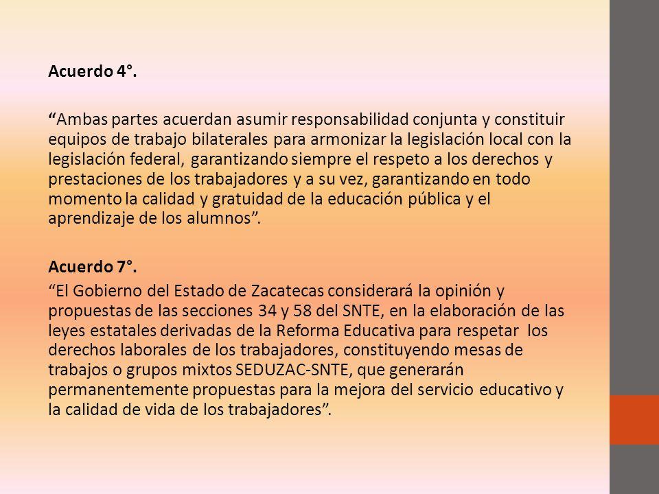 Acuerdo 4°.