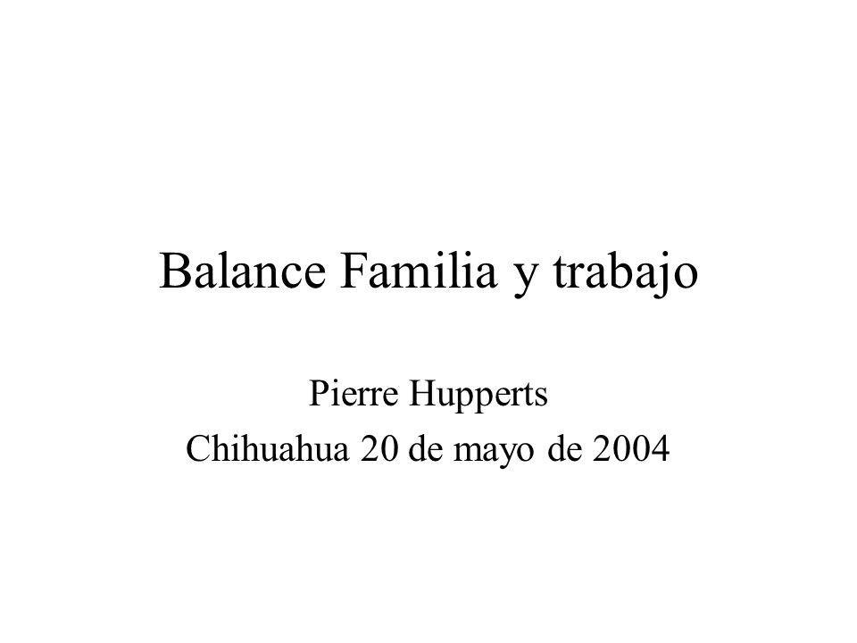 Balance Familia y trabajo
