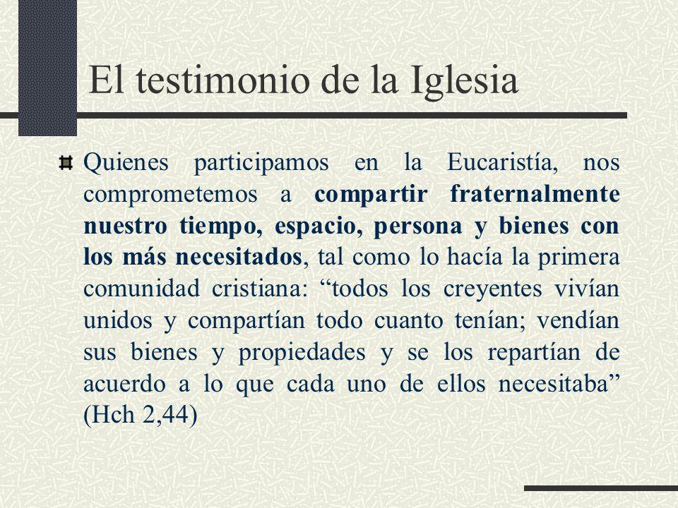 El testimonio de la Iglesia